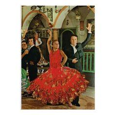 Vintage afbeelding, Spanje, de dansers van het Fla Afdruk