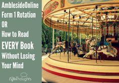 AmblesideOnline Form 1 Rotation