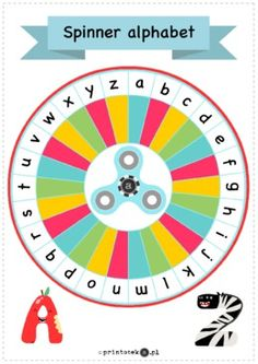 Alphabet spinner – wersja kolorowa - Printoteka.pl
