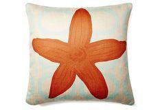 Starfish 20x20 Pillow, Orange on OneKingsLane.com