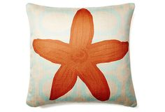 Starfish 20x20 Pillow, Orange on OneKingsLane.com