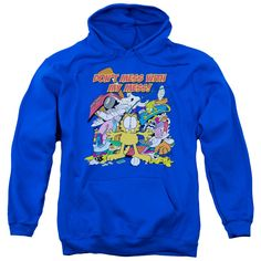 """Checkout our #LicensedGear products FREE SHIPPING + 10% OFF Coupon Code """"Official"""" Garfield / My Mess-adult Pull-over Hoodie-royal Blue-sm - Garfield / My Mess-adult Pull-over Hoodie-royal Blue-sm - Price: $49.99. Buy now at https://officiallylicensedgear.com/garfield-my-mess-adult-pull-over-hoodie-royal-blue-sm"""