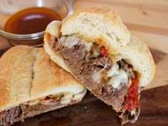 Hot Spicy Italian Style Drip Beef Sandwich
