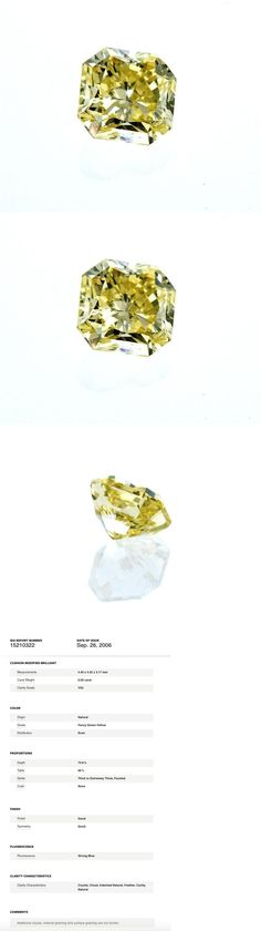 Natural Diamonds 3824: Gia Certified Natural Radiant Cut Rare Fancy Green Yellow Loose Diamond 0.60 Ct -> BUY IT NOW ONLY: $3000 on eBay!
