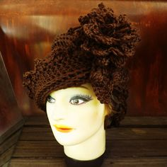 Cloche Hat 1920s Crochet Hat Womens Hat by strawberrycouture