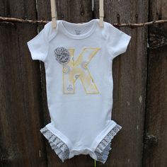 Personalized Baby Gift yellow and grey by tangledthreadsbyjen, $20.95