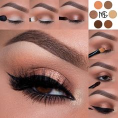 Gorgeous 'Chocolate Truffle' look by @elymarino <Instagram> using Makeup Geek's Cocoa Bear, Peach Smoothie, Latte, Mocha, Grand Stand and Magic Act. Want to recreate this look? Click through to our website for full details! www.makeupgeek.com