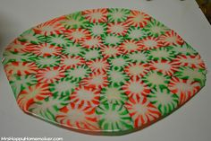 trays made with peppermint Candy! Of course I find this the day after Christmas. I wonder if you could use other hard candies to make something similar?
