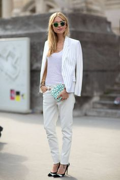 Swap your blues for a perfect pair of white jeans. Get inspired by these fresh ways to style them.
