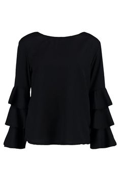 Lacey Frill Sleeve Blouse
