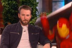 Chris Evans getting scared