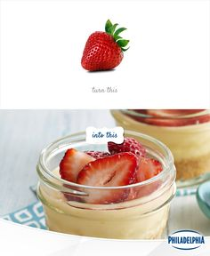Berries a little ho hum? Give them a kick with this Strawberry Lemon Cheesecake in a Jar recipe.
