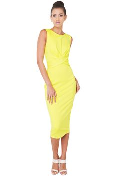 For Pleasure Lime Midi Dress