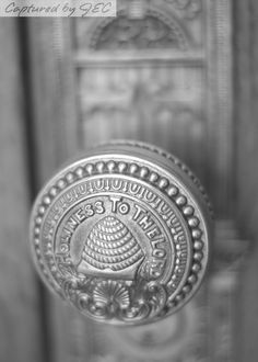 Mormon/LDS temple door detail.   Salt Lake temple I believe.  Love the black and white.