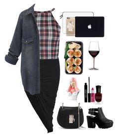 """Sushi and wine won't hurt anybody right?"" by disneyshopaholic ❤ liked on Polyvore featuring Lord & Berry, Chloé, Casetify, Deborah Lippmann and Nicki Minaj"