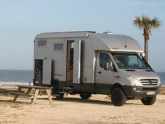 Bocklet Professional 730 cube-body Sprinter RV, built on an Iglhaut Allrad Mercedes Sprinter 4x4 chassis. The good doctor Peter traveled all over the world with his sturdy rig.