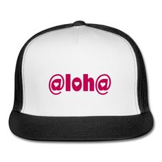 Aloha - Hat, ladies, white/hot pink Trucker Cap | Kreations by Kylie