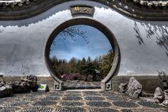 Montreal In Pictures Montreal's Botanical Garden | Entrance Courtyard to Dream Lake Garden