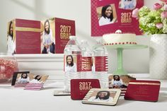 Pull it all together with custom graduation party products that coordinate with your graduation invitation design!
