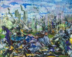 Ali Banisadr. Untitled (2012). Oil on Panel. 16x20 inches.