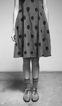 polka dot dress // Alabama Chanin