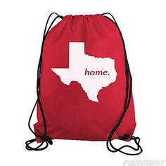 Red Texas Home State Drawstring Workout Gym Bag  Price : $14.00 http://www.pumabot.com/Texas-Home-State-Drawstring-Workout/dp/B00LXLJSPS
