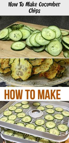 Cucumber Chips are easy to make and are delicious and healthy at the same time. They are the perfect snack for kids and adults. Cucumber Chips are easy to make and are delicious and healthy at the same time. They are the perfect snack for kids and adults. Healthy Low Carb Snacks, Healthy Travel Snacks, Healthy Toddler Snacks, Healthy Drinks, Healthy Recipes, Zucchini Chips Recipe, Veggie Chips, Cucumber Chips, Organic Food Delivery