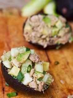 Avocado Tuna Boats.... mmm!