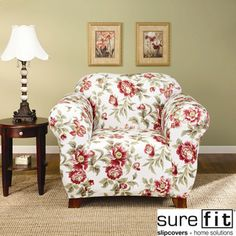 @Overstock - Update your living room decor with this charming floral chair slipcover. Featuring a bold floral design on a white background, this stretch slipcover will bring a touch of style to your living room while it works to protect your furniture.http://www.overstock.com/Home-Garden/Sure-Fit-Stretch-Olivia-Chair-Slipcover/6378303/product.html?CID=214117 $55.99