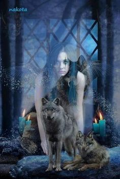 American Indian Art, American Indians, Wolves And Women, Pretty Wallpapers, Fantasy, Fictional Characters, Friends, Google, Beautiful Images