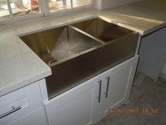 stainless farmhouse sink
