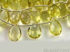 Natural '' NO TREATMENT'' Lemon Topaz Medium Faceted by Beadspoint, $29.95
