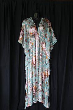 full length burnout silk kaftan dress by molly10102010 on Etsy, $189.00