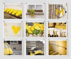 Paris photography collection in yellow | Paris Print Shop; parisian photography by color