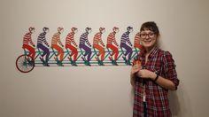 Мой проект: Велосипедисты на стене Art, Art Background, Kunst, Performing Arts, Art Education Resources, Artworks
