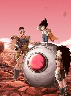 Vegeta, Nappa & Raditz - Dragon Ball | by koh_
