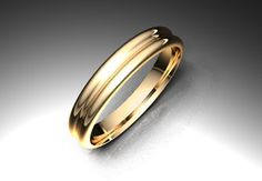 Crea tu joya - EXTREM. Alianza modelo gallón. Material oro rojo. Calibre 3,5mm; 5,0mm o  7,0mm a elegir.