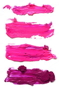 Abstract pink acrylic brush strokes by Liliia Rudchenko  on Creative Market