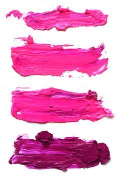 Abstract pink acrylic brush strokes by Liliia Rudchenko  on Creative Market