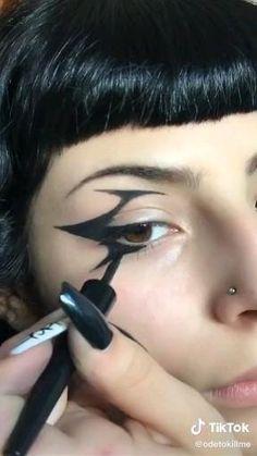 Punk Makeup, Grunge Makeup, No Eyeliner Makeup, Pretty Makeup, Makeup Looks, Mode Emo, Alternative Makeup, Cosplay Makeup, Fantasy Makeup