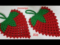 🍓🍓 Morango de croche 🍓🍓 - YouTube Filet Crochet, Crochet Motif, Crochet Patterns, Crochet Hats, Diy And Crafts, Crochet Earrings, Projects To Try, Youtube, Crochet Coin Purse