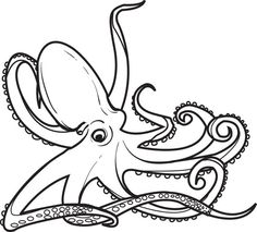 Octopus Coloring Page #2