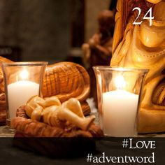#AdventWord #Love || Tonight is an answer to prayer, and the prayer is God's own. We are an answer to God's prayer. We are God's messengers to bring about the peace and goodwill on earth, and with justice, and provision, and the dignity of love. We are the Christmas gift. Br. Curtis Almquist || @SSJEWord: We hope that you will post prayerful images with the #adventword hashtag on Twitter, Facebook and Instagram to create a Global Advent Calendar. Check out www.aco.org/adventword.cfm Epiphany, Communion, Candle Sconces, Advent Calendar, Prayers, Words, Christmas, Spirituality, Faith