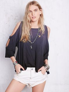 We The Free Lily Dip Dye Tee at Free People Clothing Boutique