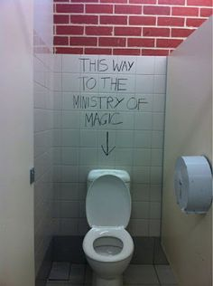 ministry of magic. I would take this picture too if I saw this.