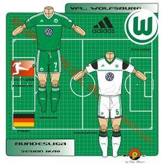 FC Schalke 04 of Germany kits for Football Kits, Football Soccer, Germany Kit, Real Madrid Kit, Baseball Cards, Sports, Logo, Saudi Arabia, Vfl Wolfsburg