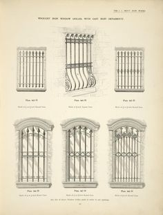 with cast iron ornaments. with cast iron ornaments. Iron Window Grill, Window Grill Design, Window Security Bars, Burglar Bars, Window Bars, Iron Windows, Porte Cochere, Wrought Iron Gates, Steel Art