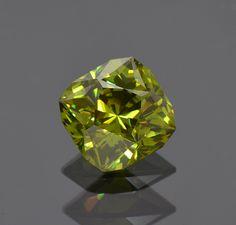 Sphalerite Gemstone from Bulgaria, 7.60 carats, Faceted by Brett Kosnar of Kosnar Gem Co.