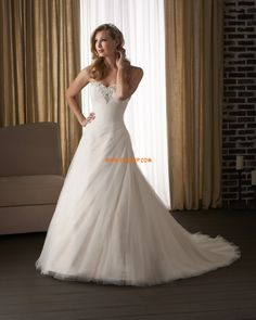 Sweetheart Tulle Natural Wedding Dresses 2014