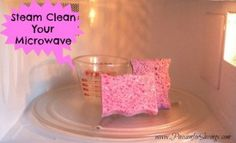 Find out how easy it is to Steam Clean Your Microwave!